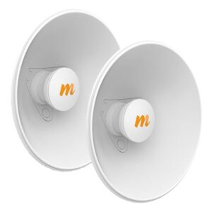 Mimosa N5-X20 – 2 Pack, 4.9-6.4 GHz Modular Twist-on Antenna, 250mm Dish for C5x only, 20 dBi gain – Contains 2 Antenna Assemblies