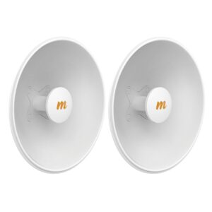 Mimosa N5-X25 – 2 Pack, 4.9-6.4 GHz Modular Twist-on Antenna, 400mm Dish for C5x only, 25 dBi gain – Contains 2 Antenna Assemblies